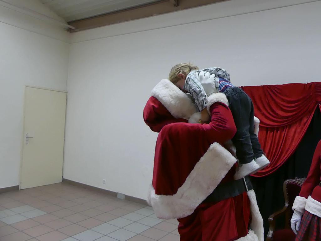 Et un gros câlin au Père-Noël !